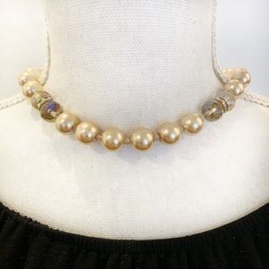Jewelry - Pearl and Stone Fashion Necklace